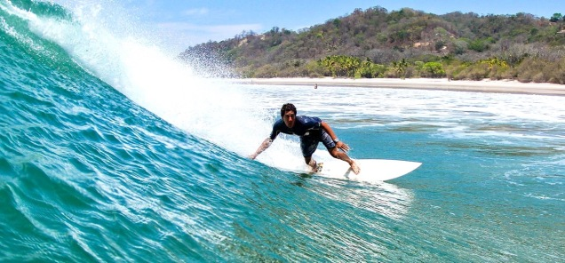 Costa Rica Surfing Close